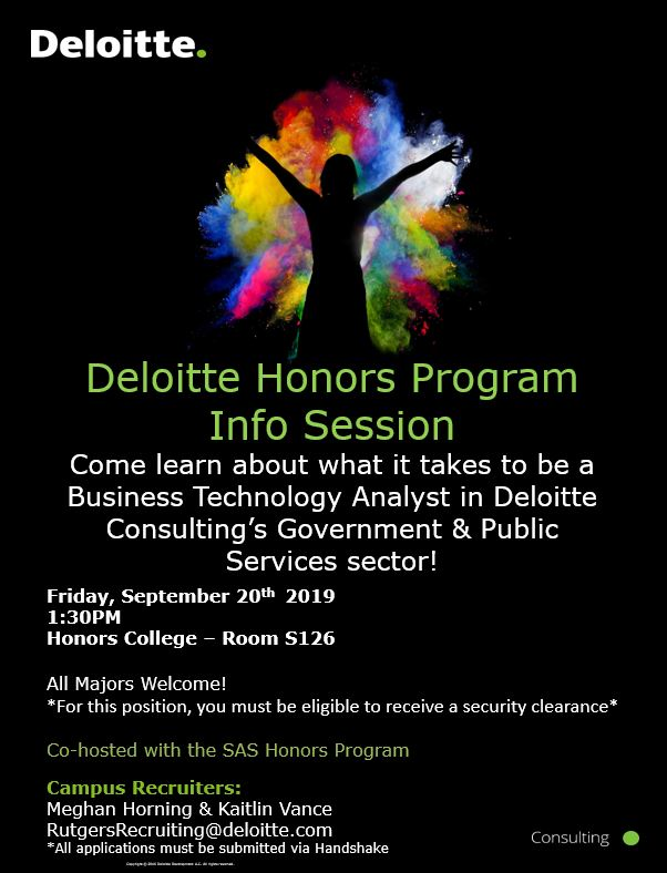 Deloitte Recruitment Event Flyer